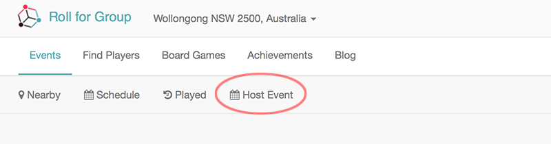 Host Event Buttons